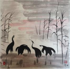 Chinese Ink and Watercolour Paintings
