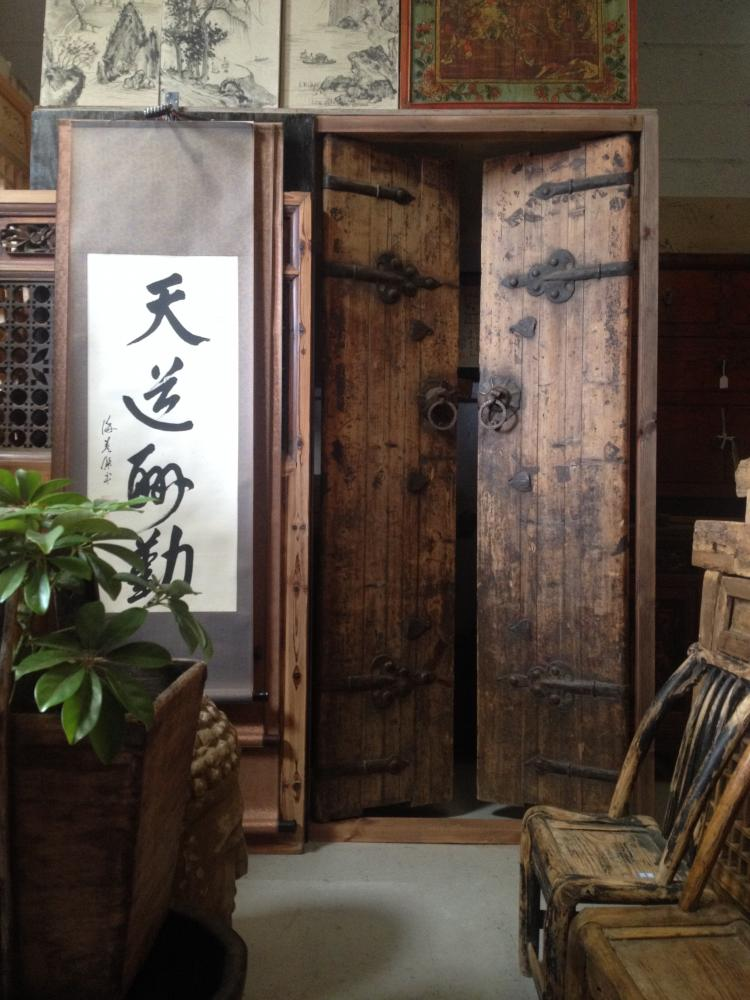 Pair of Old Chinese Traditional Doors