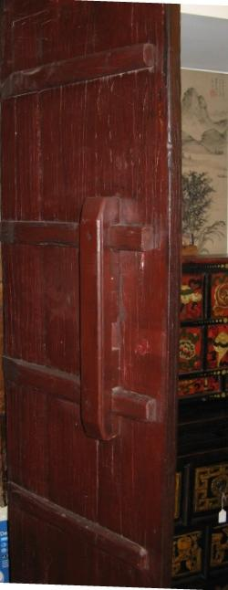 Framed Double Sided Plank Chinese Traditional Doors