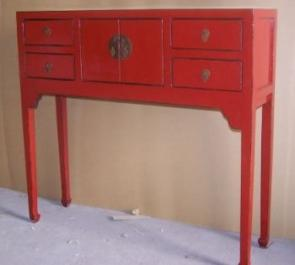 Beau Red Hallway Table Curzon Furniture