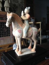 Tang Horse With Musician Rider - (Unglazed)
